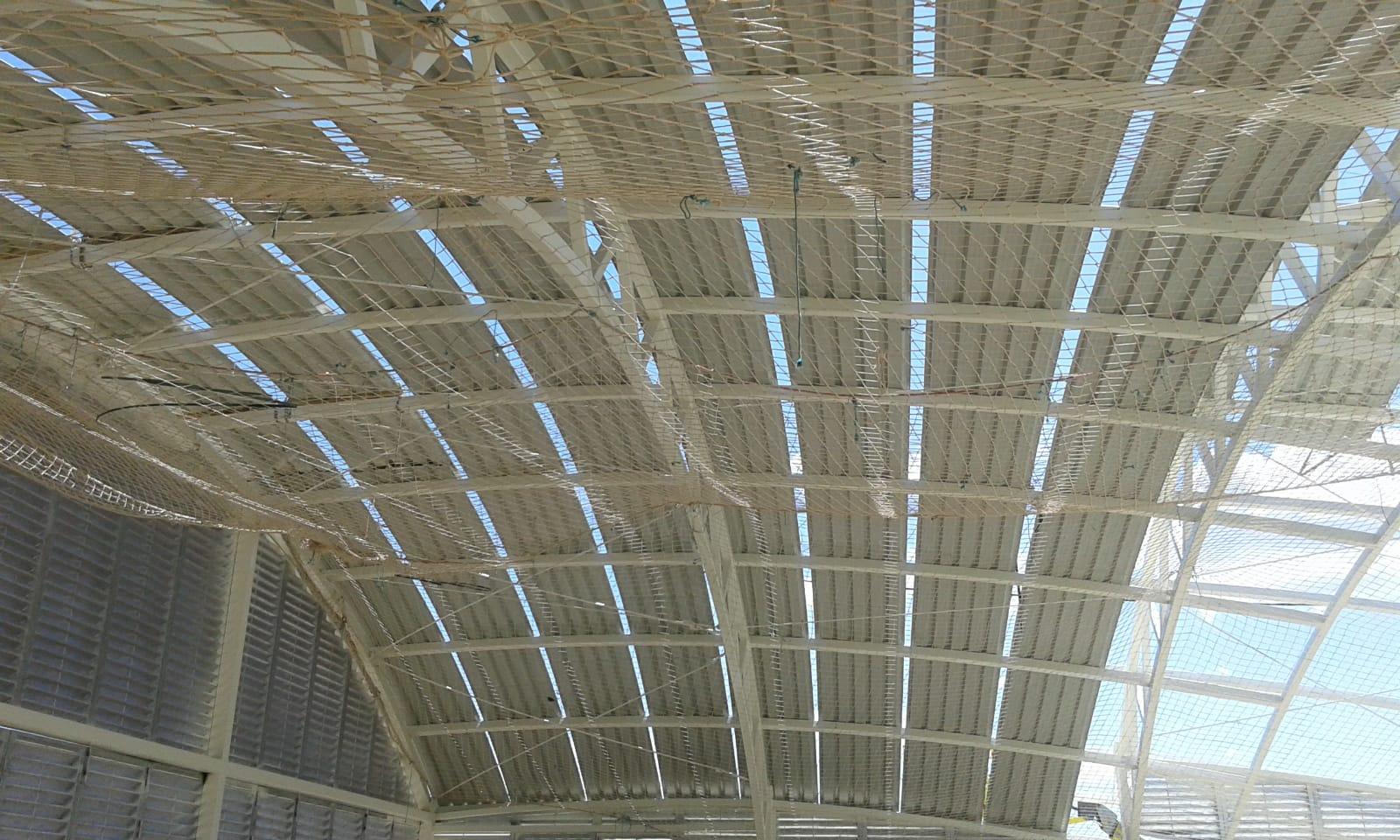 Vista interior de estructura de cúpula de nave en Orce